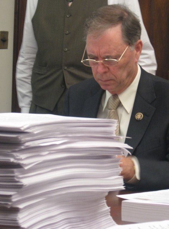 Rep. Posey reads the Majority's new 1,990 page health care bill